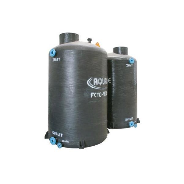 ถังเก็บน้ำบนดินไฟเบอร์กลาสแนวตั้ง Aqualine FCTO
